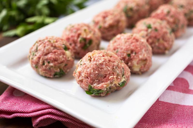 meatballs on platter