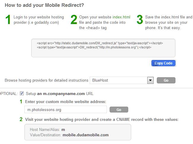 Как сделать перенаправление на мобильную версию