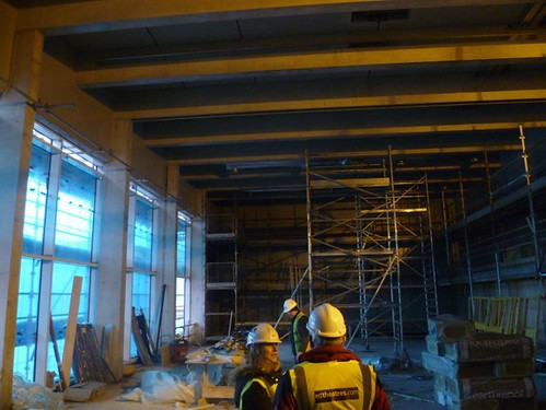 Interior of the unfinished main space of The Studio early 2013. Photo credit Festival And King's Theatres
