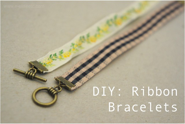 ribbon bracelet diy 1