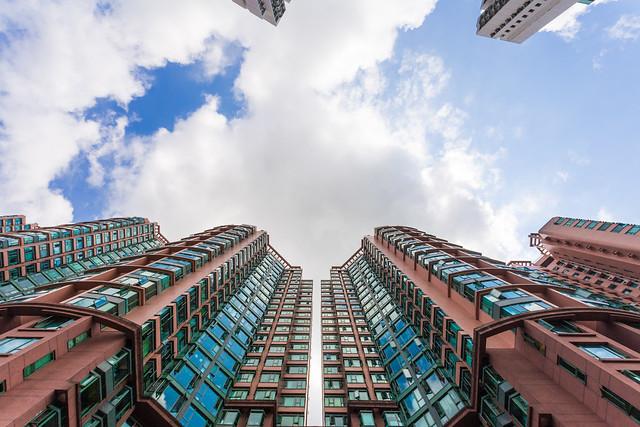 Arquitectura residencial de Hong Kong.