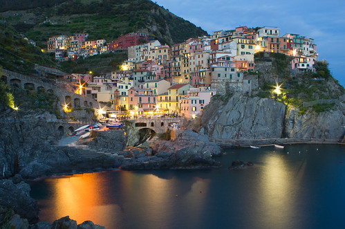 Cinque terre by night