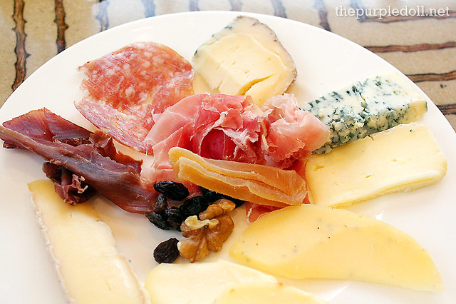 Assorted Cheese, Nuts, Dried Fruits and Cold Cuts