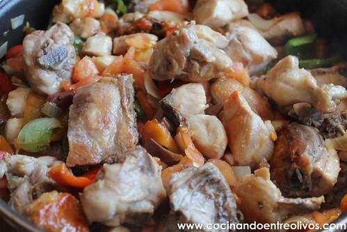 Pollo al chilindron www.cocinandoentreolivos (8)