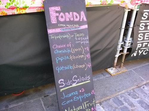 fonda menu
