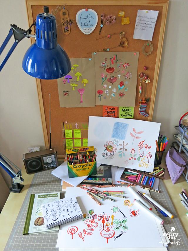 coloring desk