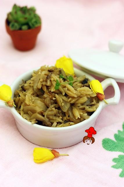 蘑菇義大利米麵 Mushroom Orzo 4