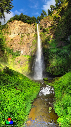 Multnomah Falls, Oregon - iphone pano by Douglas Remington - Ethereal Light® Photography