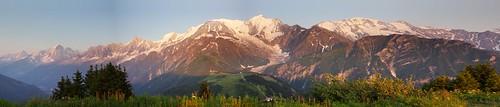 sunset summer mountain alps green landscape glacier trail chamonix montblanc benjaminhall benjaminhallphotocom
