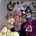 Angie Naron & Puppets by artist James Kuhn circa 1985 by Angie Naron