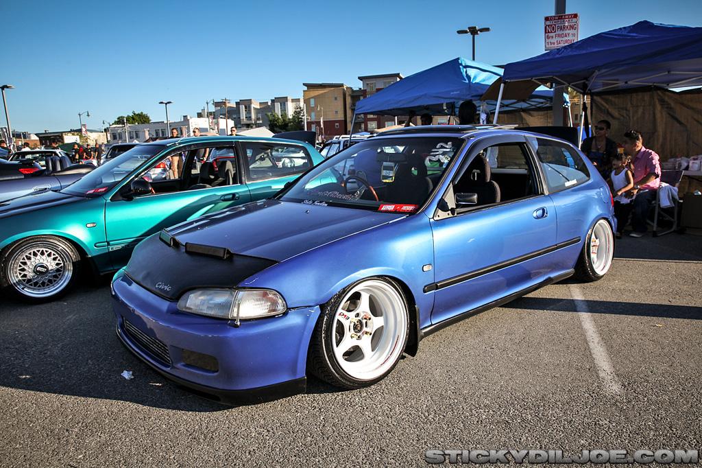 Blue honda civic eg hatch rocking regamaster evo 39 s for Honda eg hatchback