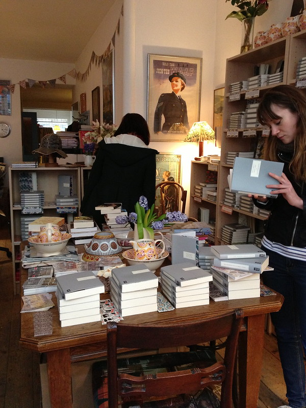 Browsing at Persephone Books