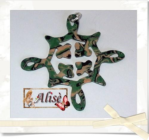 Colgante filigrana verde by Alisè