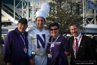 Drum Major Michael San Gabino and Family with Voice of the Band Pete Friedmann