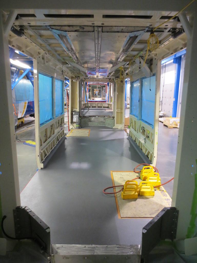 Vinyl flooring installation.