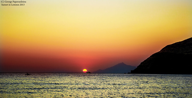 Sunset in Lemnos Island ,Greece