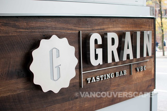 Grain Tasting Bar signage