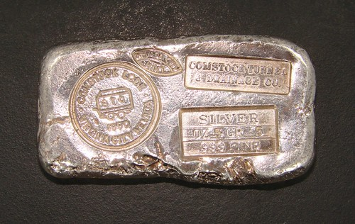 Nevada City Mint silver bar