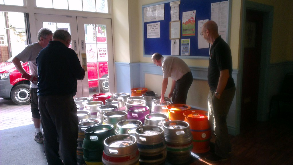 Inspecting the casks