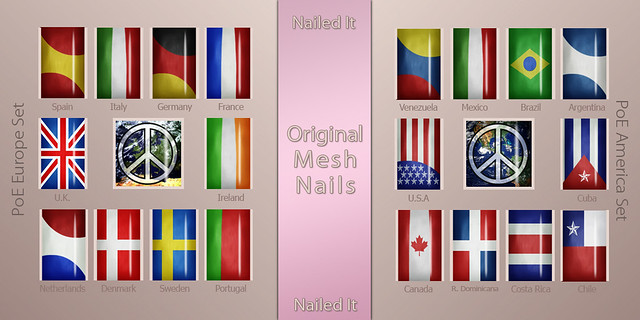 Nailed it Vendor - Mesh Nails - PoE Europe and America Sets