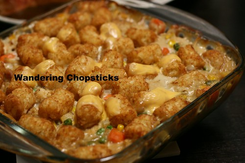 Tater Tot Casserole with Chicken Pot Pie Filling 13