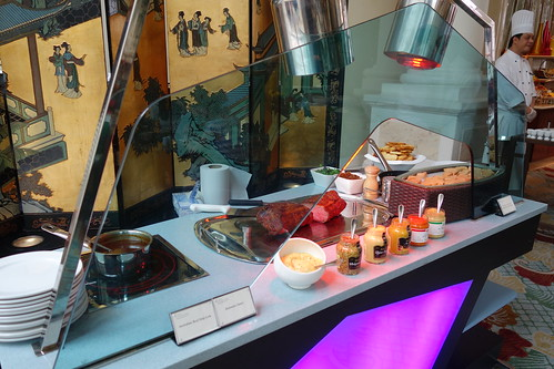 Pan-Fried Foie Gras & Beef Carving Station. Sunday Champagne Brunch, InterContinental Singapore