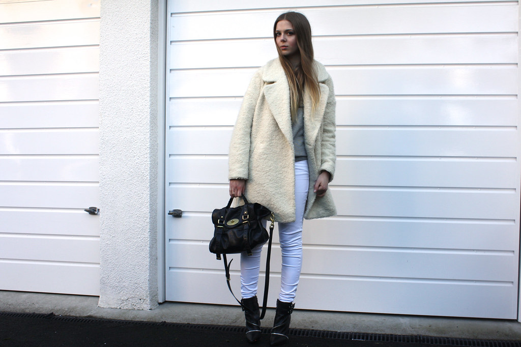 River Island cream oversized coat