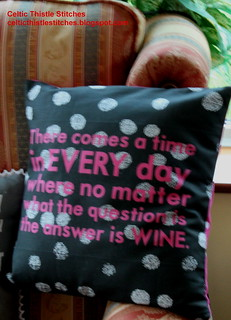 Wine is the answer Cushion