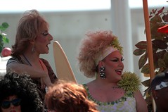 Drag queens at ease in the INDY PRIDE PARADE.