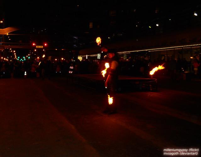 Fire Dancing at NYE celebration