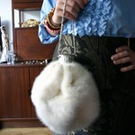 vintage mink fur accordion bag from tag sale in Plainview