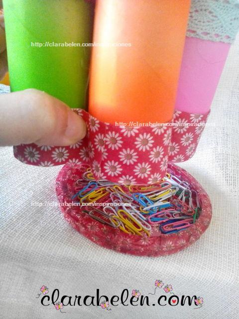 Como hacer un organizador con tubos cartón y globos