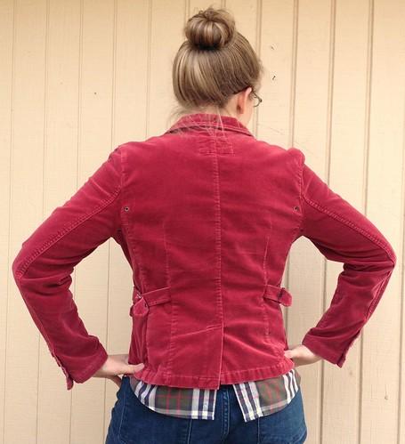 Raspberry Velvet Blazer