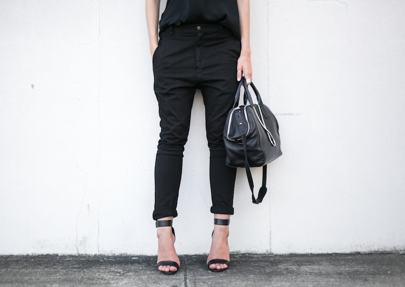 modern legacy fashion personal style blog australia street bassike camilla and marc all black tibi heels alexander wang jamie chain tote bag workwear (9 of 10)