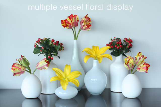 multiple vessel flower display