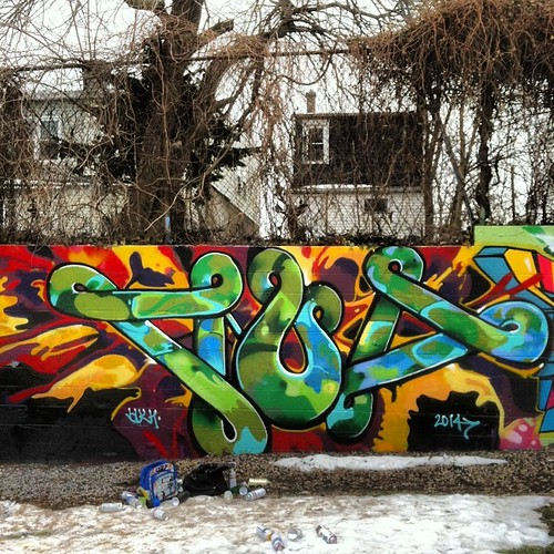#graffiti #luv1 #trenton #njgraff by eL hue V