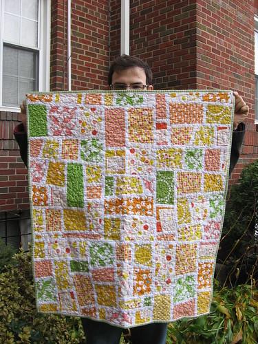 mod mosaic baby quilt