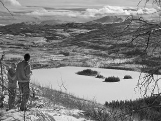 High Above Little Fox Lakes - 665nm IR, B&W