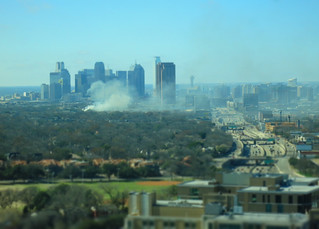 something's on fire just east of City Place 3/11/14 t 10:09am