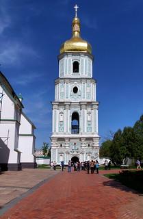 Attēls no Saint Sophia Cathedral pie Kiev. city spring may ukraine belltower kiev киев колокольня город весна май украина 2013 софийскийсобор saintsophiascathedral