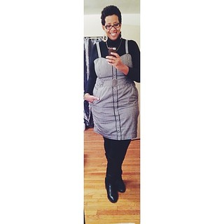 Conveniently cropped out the part where I ripped my dress :( #ootd (yesterday) #plussize #fatshion #whatiwore