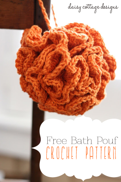 Bath pouf crochet pattern daisy cottage designs for Crochet crafts that sell well