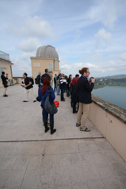 Tweeps take in the view of the lake