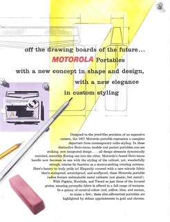 MOTOROLA Portable Radio Dealer Sheet Model Powermaster - 76T (USA 1957)_3