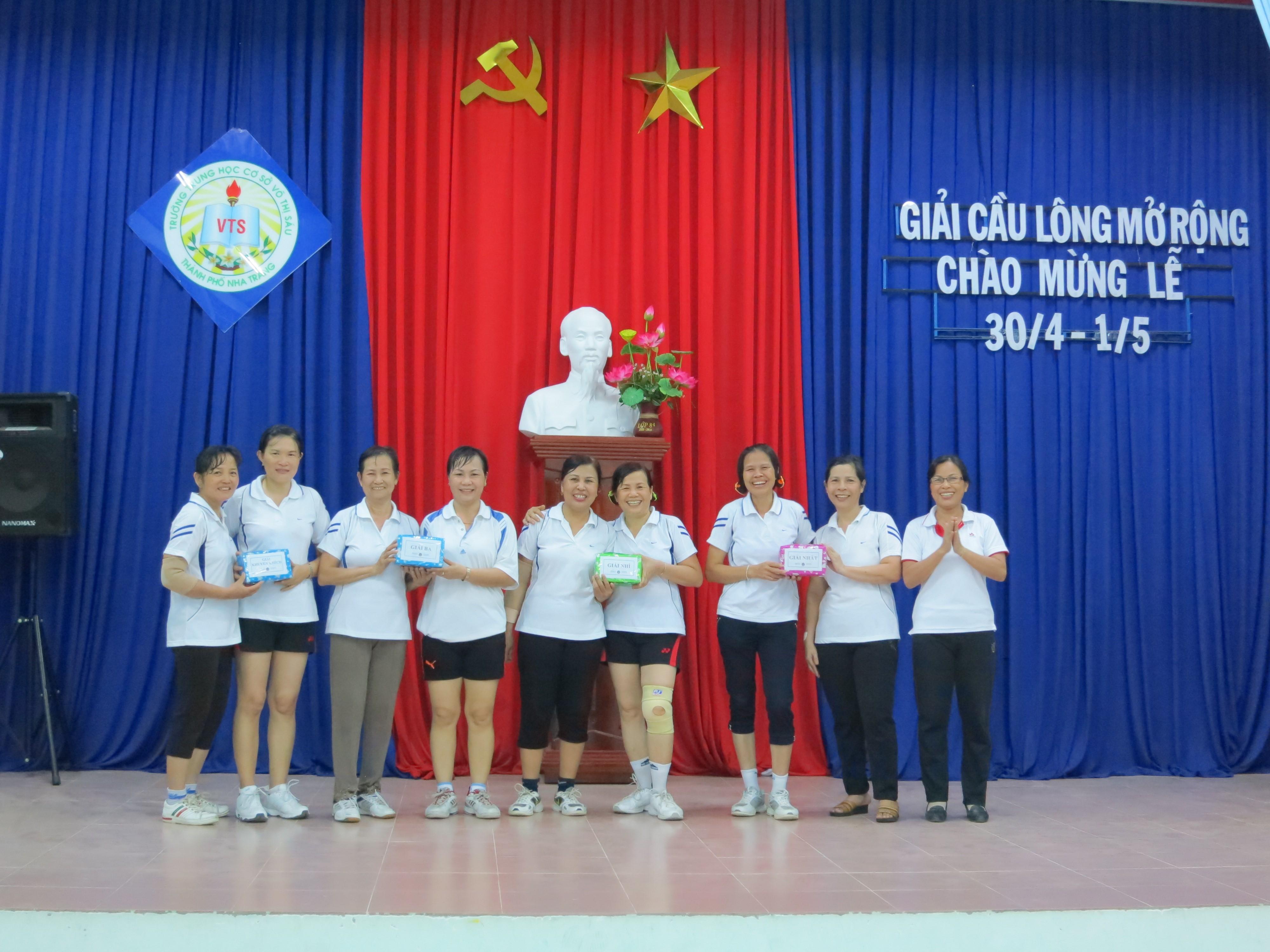 Giải cầu lông mở rộng chào mừng 30 tháng 04, 01 tháng 05, 07 tháng 05