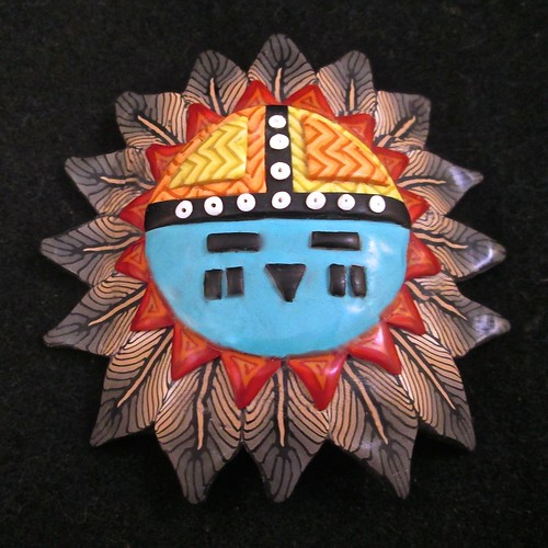 Sunface Kachina Mask/Bracelet tile/Pendant