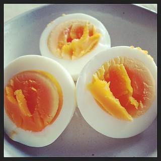 ゆで卵の糠漬け。Pickled egg.