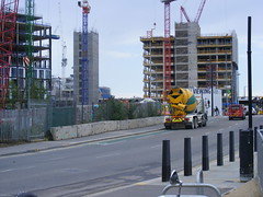 Kings Cross construction site, goods way,, August 2013