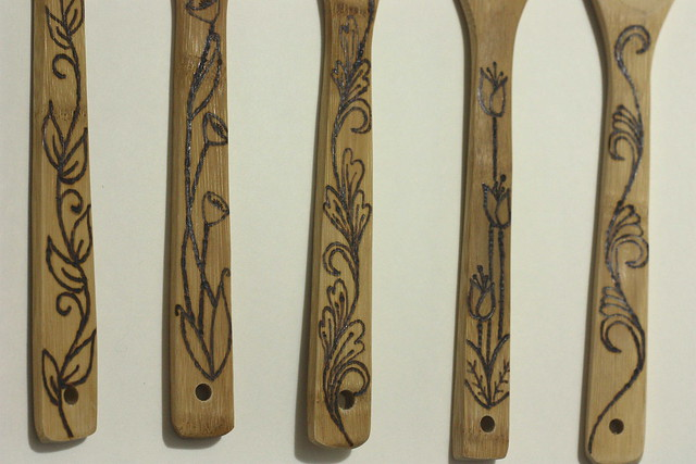 DIY Woodburned Spoons and Spatulas