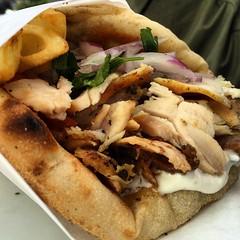 meal, pulled pork, flatbread, street food, food, dish, cuisine,